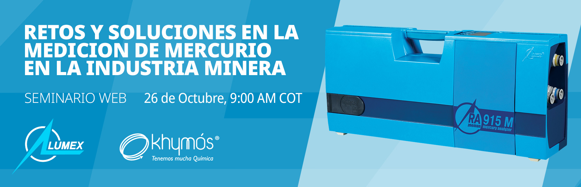 Free webinar in Spanish Challenges and Solutions in the Measurement of Mercury in the Mining Industry